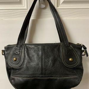 THE SAK Hobo Bag Black Soft Pebbled Leather Medium